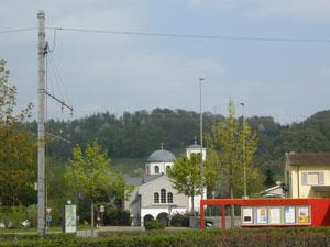 Die kirche mit ihrer markanten silhouette